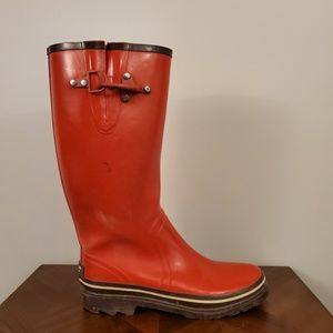 Kate Spade red rain boots women's size 9